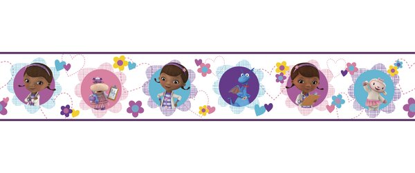 Walt Disney Kids II Doc Mcstuffins and Friends 6 Border Wallpaper by York Wallcoverings