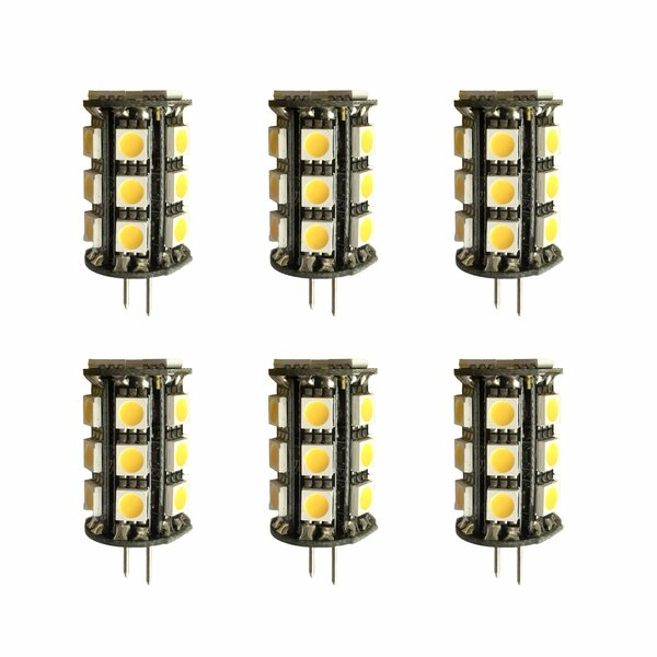 G4/Bi-pin LED Light Bulb (Set of 6) by Elegant Lighting