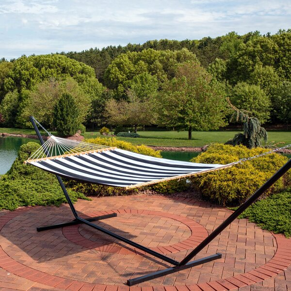 Westerman Polyester Spreader Bar Hammock with Stand by Mercer41 Mercer41