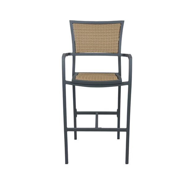 Bristol 30 Patio Bar Stool with Cushion by Source Contract