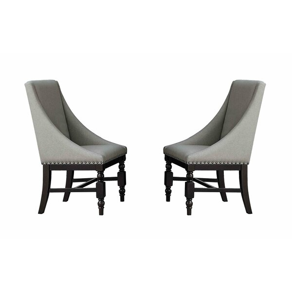 Noemi Wood and Fabric Upholstered Dining Chair (Set of 2) by Darby Home Co