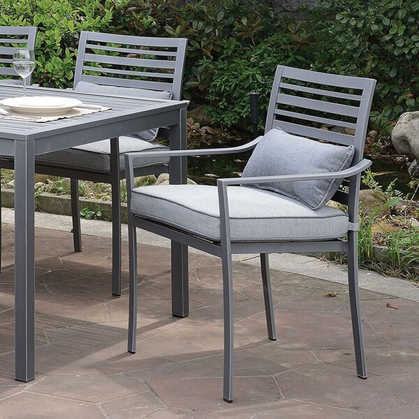 Caesar Patio Dining Chair with Cushion (Set of 2) by 17 Stories
