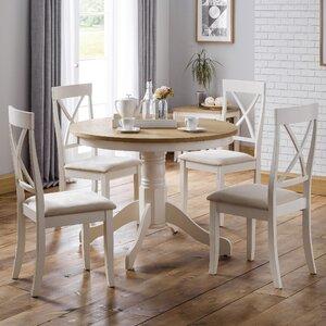 Essgruppe Longeville mit 4 Stühlen von All Home