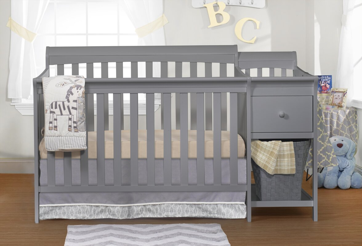 Sorelle Florence 4 In 1 Convertible Crib And Changer Combo