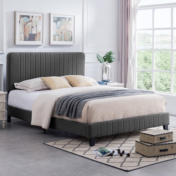 Pooler Queen Upholstered Standard Bed by Wrought Studio