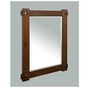 Rustic Wood Mirror Frame Inside Quickview Rustic Wood Framed Mirror Wayfair