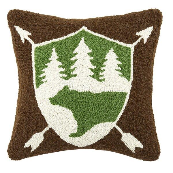 Bear Wool Throw Pillow by Peking Handicraft