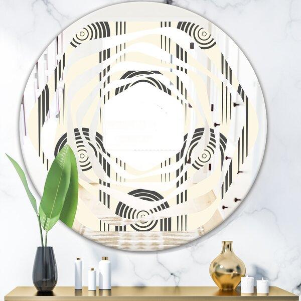 Whirl Curved Minimal Ornament II Modern Wall Mirror