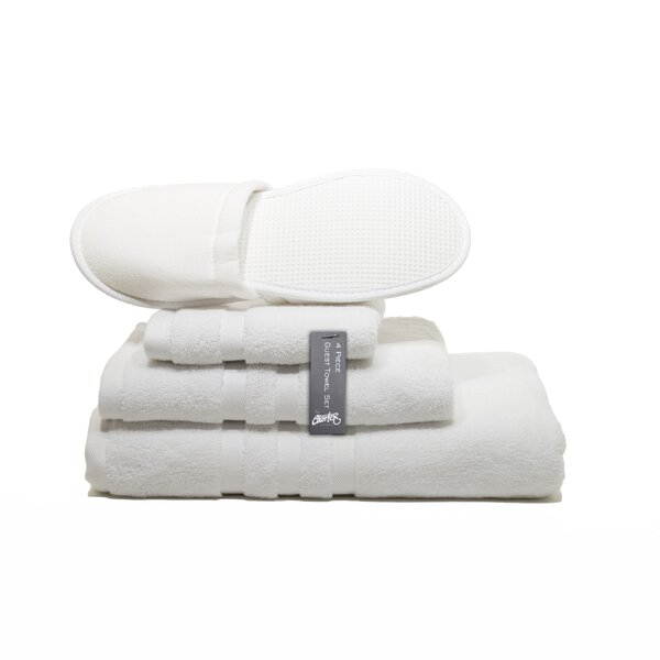 Bjorn Guest Turkish Cotton 4 Piece Towel Set by Alwyn Home