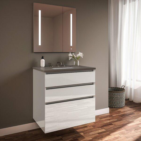 Curated Cartesian 36 Wall-Mounted Single Bathroom Vanity Set