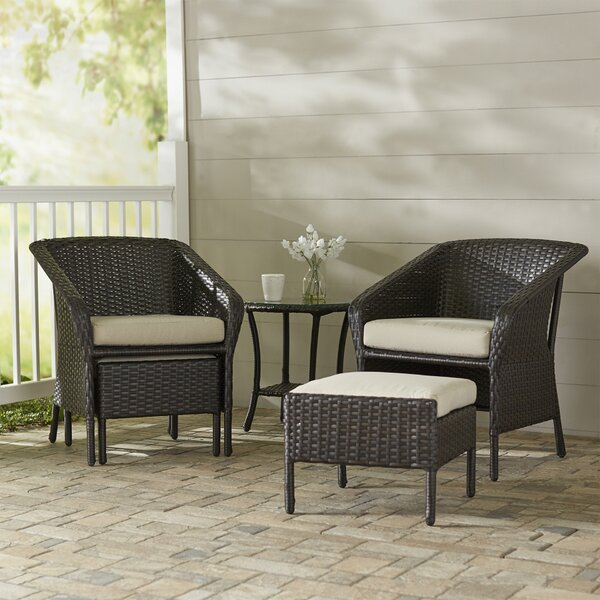 Cline 5 Piece Conversation Set with Cushions by Darby Home Co