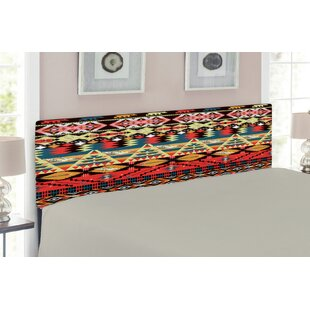 Native American Queen Upholstered Panel Headboard by East Urban Home