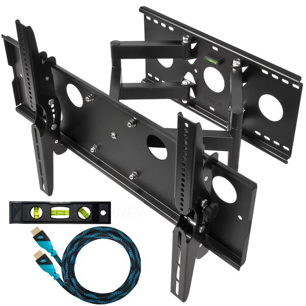 Dual Extending Arm/Tilt Universal Wall Mount for 32 - 65 Screens by Cheetah Mounts