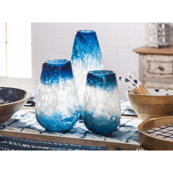 Mora Art Glass 3 Piece Table Vase Set by Breakwater Bay
