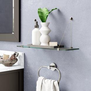 Low priced Floating Glass Wall Shelf BySpancraft Glass