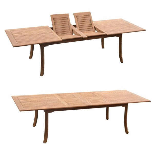 Oloran Luxurious 9 Piece Teak Dining Set by Rosecliff Heights