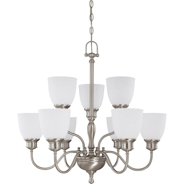 Kaelin 9-Light Shaded Tiered Chandelier By Charlton Home