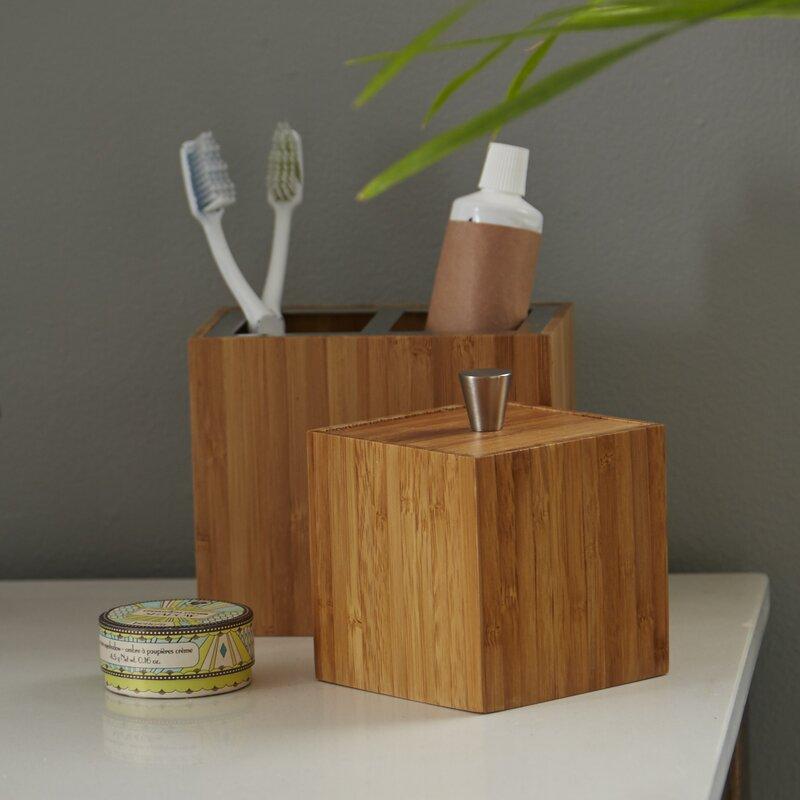 Defoe bamboo 5 piece bathroom accessory set reviews for All bathroom accessories