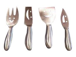 4 Piece Stainless Steel Cheese Knives Set by Prodyne