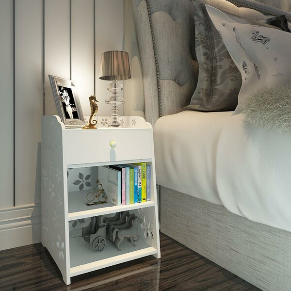 Raffles 1 Drawer Nightstand In White By Red Barrel Studio