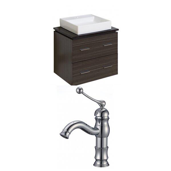 Kaplan Rectangle Wall Mount 24 Single Bathroom Vanity Set by Royal Purple Bath Kitchen