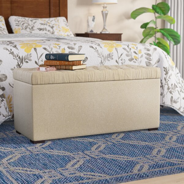 Gareth One Seat Upholstered Flip Top Storage Bench by Andover Mills