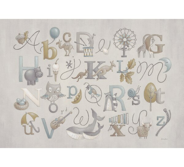 Neutral Alphabet by Sarah Lowe Vinyl Placemat by Oopsy Daisy