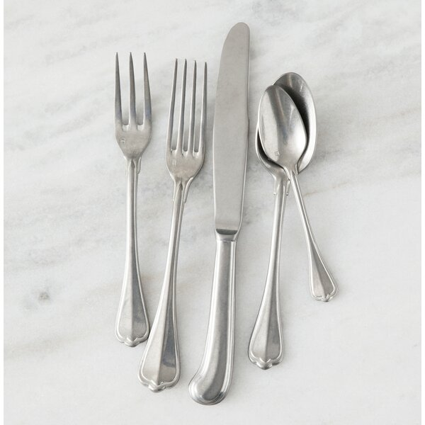 San Marco 5 Piece 18/10 Stainless Steel Flatware Set by Fortessa