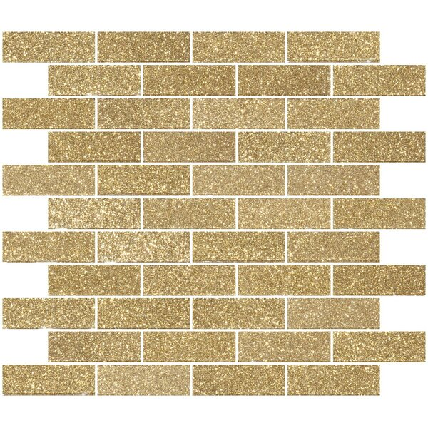 1 x 3 Glass Subway Tile in Light Gold by Susan Jablon
