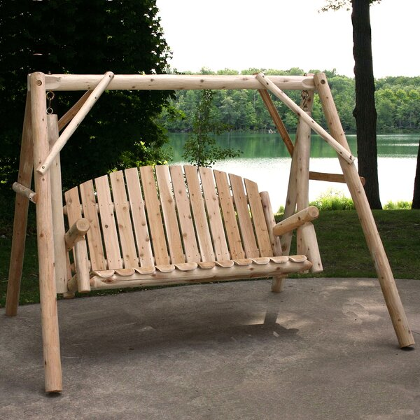 Bogle Garden Porch Swing With Stand By Loon Peak