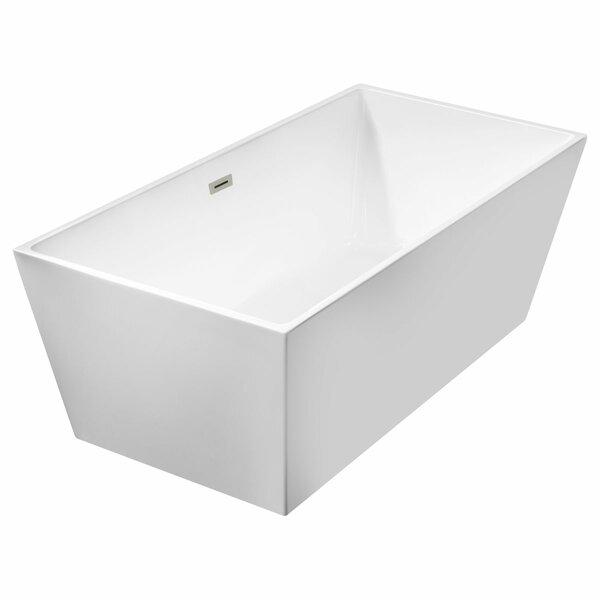Freestanding 66.75 x 31.5 Bathtub by LessCare
