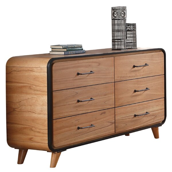 Noyes Wooden 6 Drawer Dresser by George Oliver