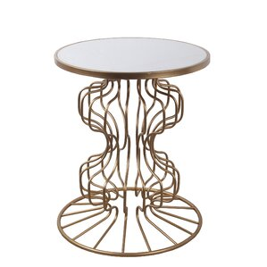 Tamiko Stone End Table by Everly Quinn