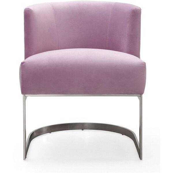 Eloy Velvet Barrel Chair by Everly Quinn
