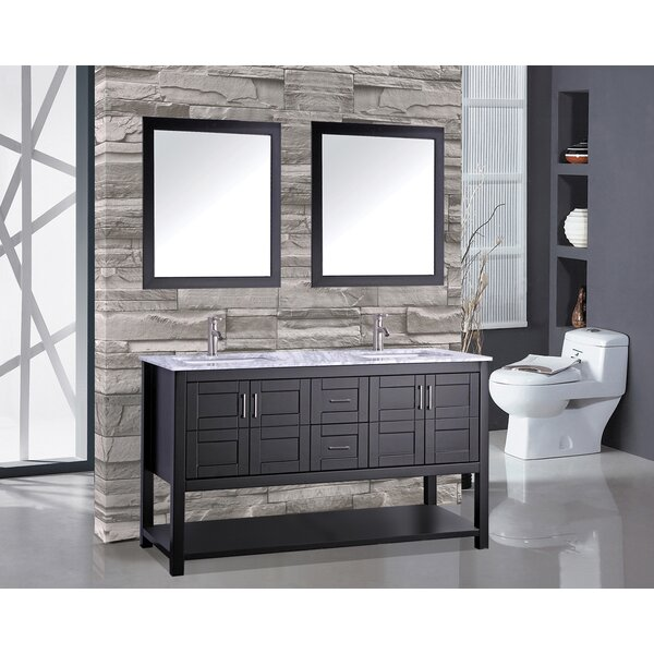 Rinker 60 Double Bathroom Vanity Set with Mirror by Mercer41