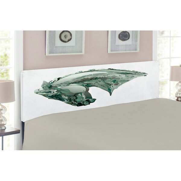 Sculptures Queen Upholstered Panel Headboard by East Urban Home