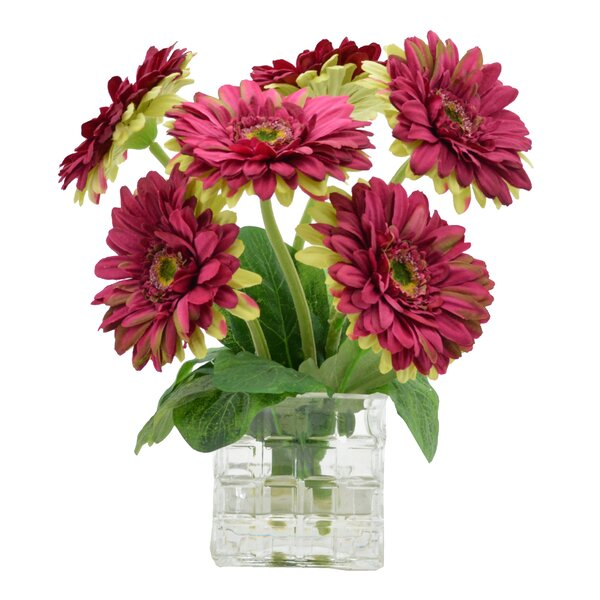 Gerbera Daisies Floral Arrangement by August Grove