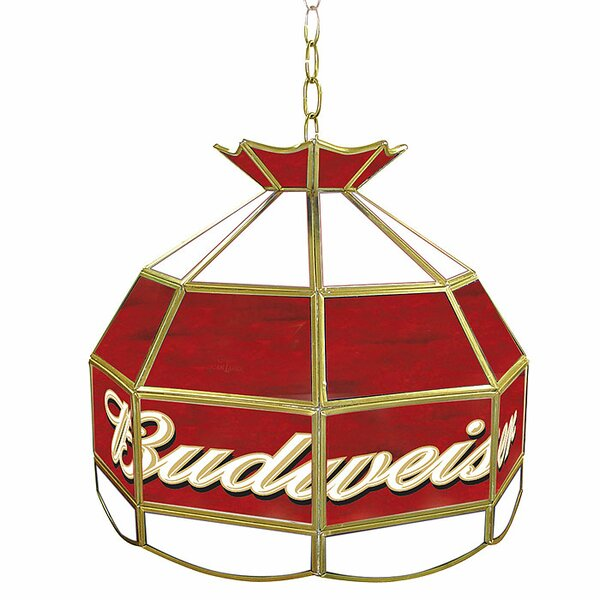 Budweiser 16 Tiffany Light Pool Table Lights Pendant by Trademark Global