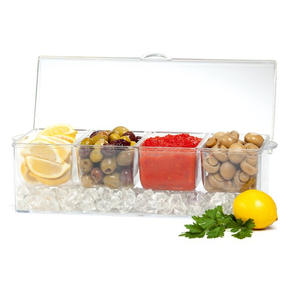 Annemarie Acrylic Divided Serving Dish by Latitude Run