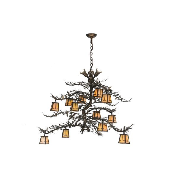 Garibay  15 - Ligth Shaded Tiered Chandelier by Loon Peak Loon Peak