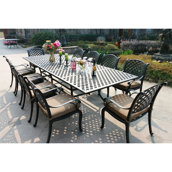 Bannon Aluminum 11 Piece Dining Set with Cushions by Canora Grey