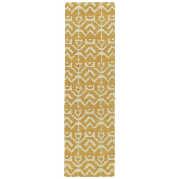 Hinton Charterhouse Hand-Tufted Butterscotch Area Rug by Wrought Studio