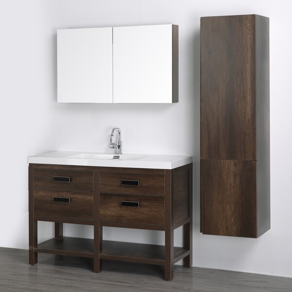 47 Single Bathroom Vanity Set with Mirror by Streamline Bath