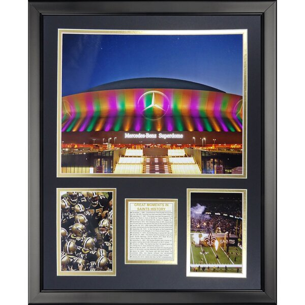 NFL New Orleans Saints - The Superdome Framed Memorabili by Legends Never Die