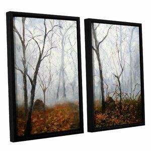 Autumn Mist by Marina Petro 2 Piece Framed Painting Print by ArtWall