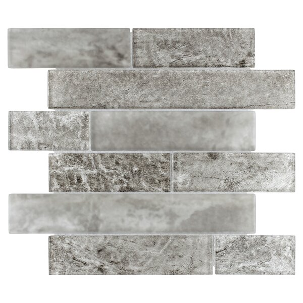 Nieve Panel 11.625 x 11.75 Glass Mosaic Tile in Smoke by EliteTile