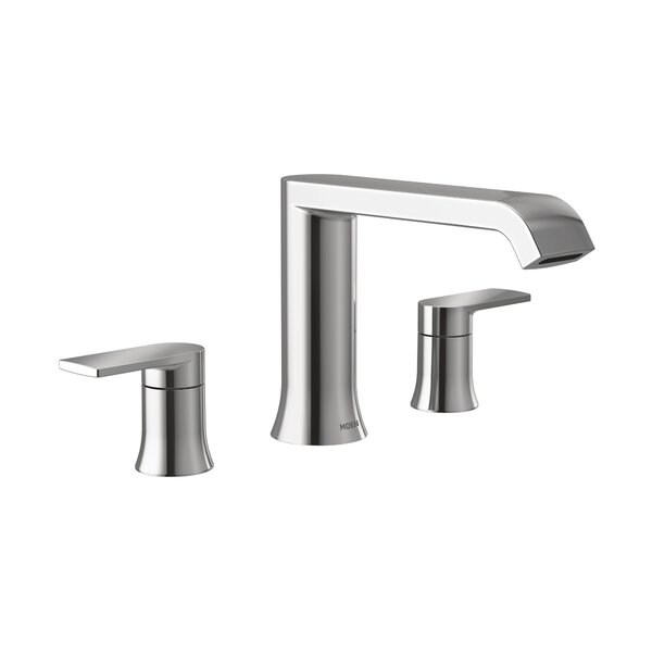 Genta Double Handle Deck Mounted Roman Tub Faucet Trim By Moen
