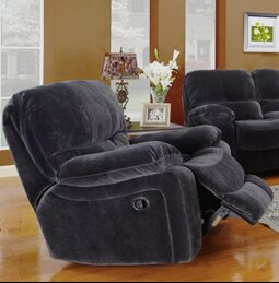 Gracehill Manual Wall Hugger Recliner by Three Posts