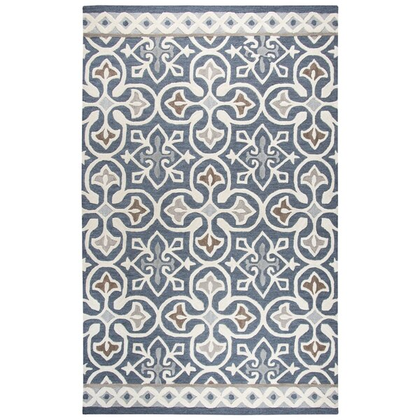 Nordmeyer Hand-Tufted Blue/Gray Area Rug by Three Posts