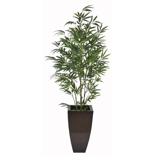 Artificial Green Bamboo Tree in Planter by House of Silk Flowers Inc.